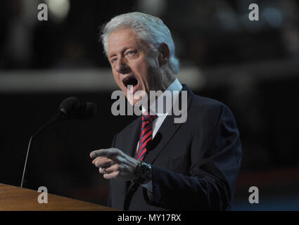 CHARLOTTE, NC - SEPTEMBER 5: Bill Clinton during the 2012 Democratic National Convention at the Time Warner Center on September 5, 2012 in Charlotte, North Carolina   People:  Bill Clinton - Stock Photo