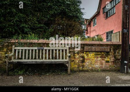 Photographs of Kersey village near Ipswich, Suffolk, UK - Stock Photo