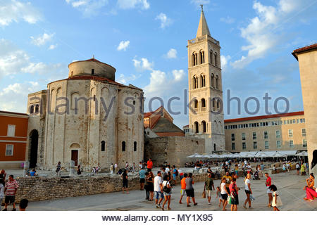 Church of St. Donatus is a church located in Zadar, Croatia - Stock Photo