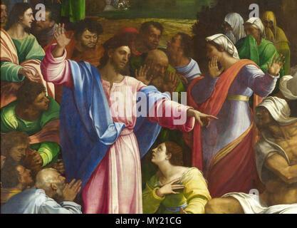 . English: File:Sebastiano del Piombo, The Raising of Lazarus.jpg, cropped and lightened. 1519. Sebastiano del Piombo, Died 1547 480 Sebastiano del Piombo, The Raising of Lazarus (cropped5) - Stock Photo