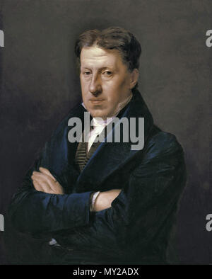 Waldmuller Ferdinand Georg - Portrait of Thiery Landlord of the Wolf-in-the-Meadow Inn - Stock Photo