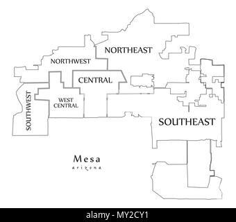 Mesa arizona usa map