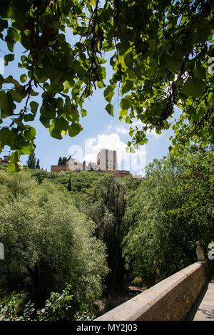 Alhambra, Granada, Andalucia, Spain.Calle Alhambra de Granada, Antequera, Andalucía, Spain - Stock Photo