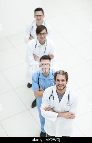 group of medical personnel.isolated on white - Stock Photo