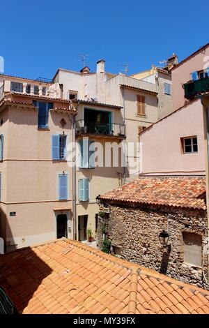 Antibes is a resort town between Cannes and Nice on the French Riviera. It's known for its old town enclosed by 16th-century ramparts. - Stock Photo