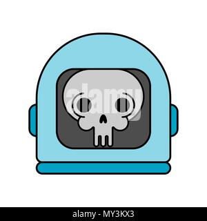 Skull in Space helmet. Dead space. Vector illustration - Stock Photo