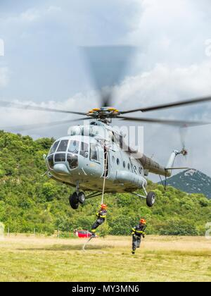 Croatia HRZ Croatian Air Force helicopter Mi-8 Mi8 MTV1 - Stock Photo