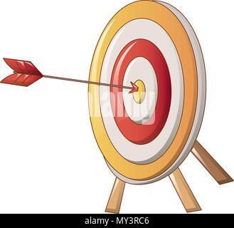 Target with arrow icon, cartoon style - Stock Photo
