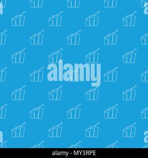 Diagram pattern vector seamless blue - Stock Photo