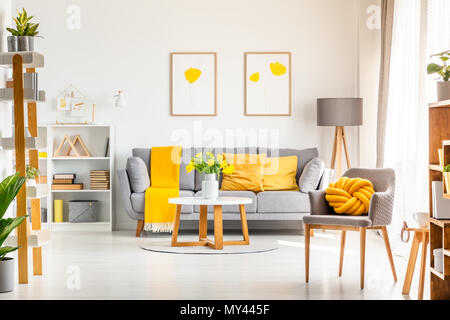 Photo Of A Modern Flat In Grey With Diy Furniture And Decorative Wall Finish Stock Photo Alamy