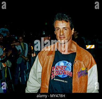 Washington, DC., USA, October 3, 1993  Sylvester Stallone attends the grand opening of the Planet Hollywood night club - Stock Photo