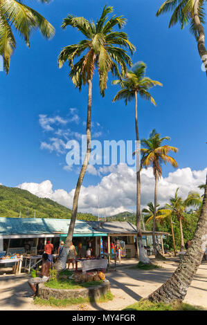 Marigot bay - Caribbean sea - Saint Lucia tropical island - Stock Photo