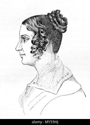 . English: Sophie von Knorring, Swedish author. Svenska: Sophie von Knorring, svensk författarinna. 19th century. Unknown 494 Sofia Margareta von Knorring - Stock Photo