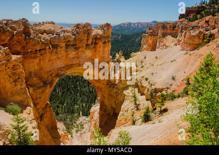 Scenic and colorful rock formations at Bryce Canyon National Park, Utah USA - Stock Photo
