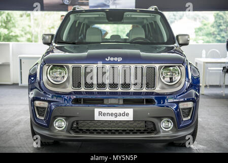 Turin, Piedmont, Italy. 6th June, 2018. Turin, Italy-June 06, 2018: Jeep Renagade in Turin Motor Show 2018 Credit: Stefano Guidi/ZUMA Wire/Alamy Live News - Stock Photo