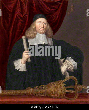 . English: Sir Edward Turnour (1617-1676) . early 19th century. Thomas Athow, after Unknown artist, after John Michael Wright 491 SirEdwardTurnour - Stock Photo