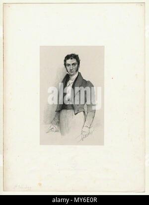 . English: Lithograph by Richard James Lane, circa 1825–1834. 1825. Richard James Lane, died 1872 500 St.-John-Long-portrait-by-Lane - Stock Photo