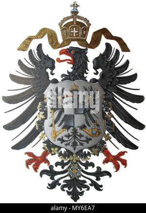 . Deutsch: Reichsadler des Preußisch-Deutschen Kaiserreiches ab 1874. English: Imperial Eagle of the German Empire to 1874. Italiano: Stemma dell'Impero Germanico (1874) . 1874. Unknown 255 Imperial Coat of arms of Germany (1874) - Stock Photo