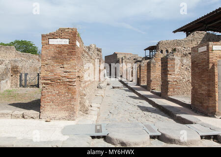 Ausgrabungsstätte Pompeji Neapel Vesuv - Stock Photo