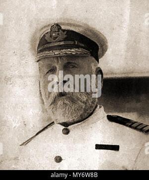 TITANIC - 1912 - Portrait of Edward John Smith, Captain of the Titanic who went down with his ship on 15 April 1912, - Stock Photo