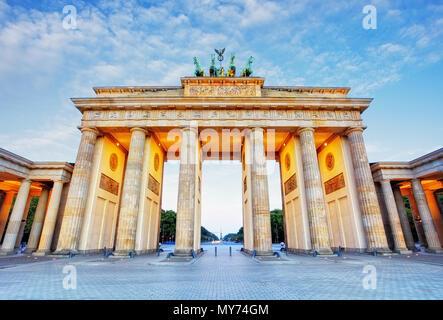 Brandenburg in Berlin, capital of Germany - Stock Photo