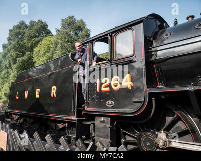 LNER B1 4-6-0 locomotive 1264 (BR 6124). Designed by Edward Thomson 410 were built between 1942 and 1952. This loco entered service in 1947 - Stock Photo