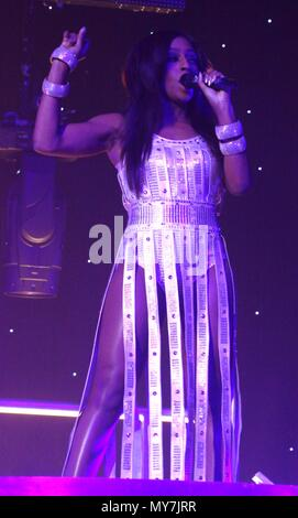 Liverpool,Uk, Alexandra Burke performs at Liverpool Echo Arena credit Ian Fairbrother/Alamy Stock Photos - Stock Photo