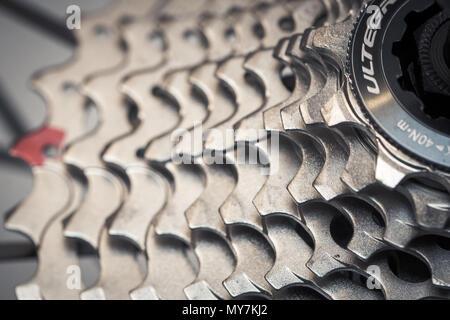 Bike Rear Cassette - Stock Photo