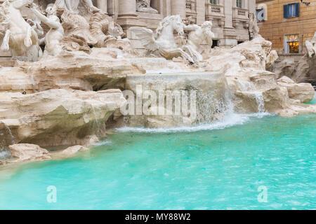 Trevi Fountain (Fontana di Trevi) in Rome, Italy. - Stock Photo