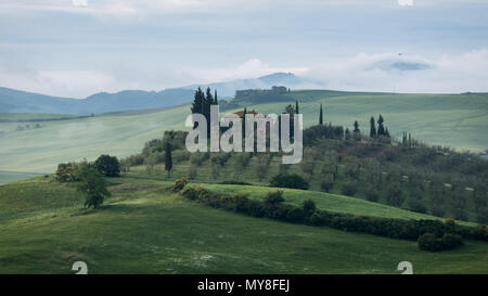 The beauty of the Val d'Orcia in Tuscany , Italy - Stock Photo