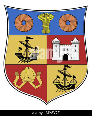 . Coat of Arms of Partick, Glasgow, Scotland. 1872. Unknown 409 Partick COA - Stock Photo