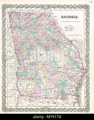 Florida Georgia Map.Florida English A Beautiful 1855 First Edition Example Of Colton S