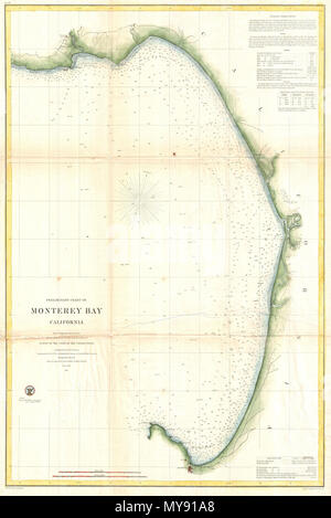 Preliminary Chart Of Monterey Bay California English This Is An