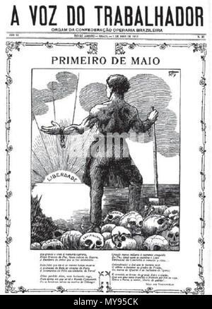. Português: A Voz do Trabalhador: Jornal da Confederação Operária Brasileira. Rio de Janeiro, 01/05/1913. 27 January 2014, 16:50:55. A Voz do Trabalhador: Jornal da COB 19 A Voz do Trabalhador - Stock Photo