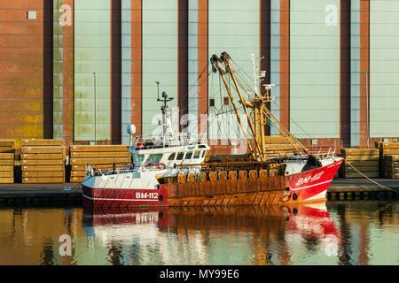 Rusty ship at Shoreham Port, West Sussex, England. - Stock Photo