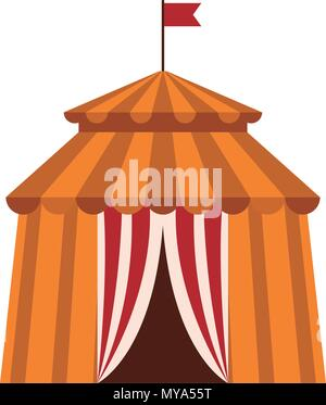 Circus tent isolated - Stock Photo