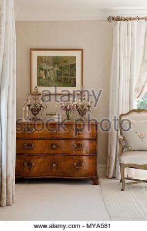 Tallboy in bedroom - Stock Photo