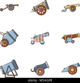 Armament icons set, cartoon style - Stock Photo