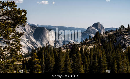 Half Dome as seen from Olmsted Point in Yosemite National Park. - Stock Photo