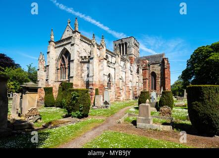 St Mary's Parish Church in Haddington, East Lothian, Scotland, UK - Stock Photo
