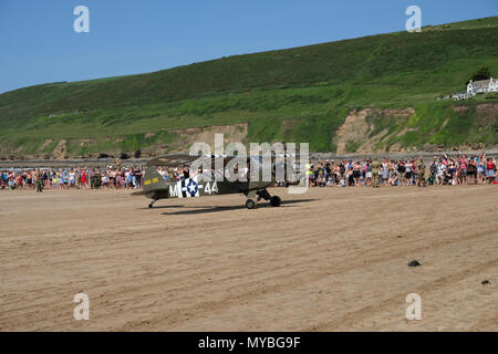 Saunton, Devon, UK - June 2nd 2018: Friends of the Assault Training Center host the 75th Anniversary of the US Assault Training Center in Saunton, UK - Stock Photo