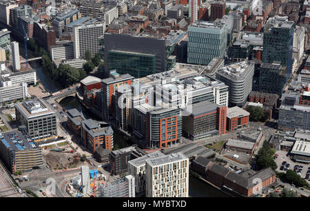 aerial view of Manchester, June 2018 - Stock Photo