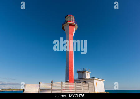Cape Forchu Lighthouse, Yarmouth, Nova Scotia, Canada - Stock Photo