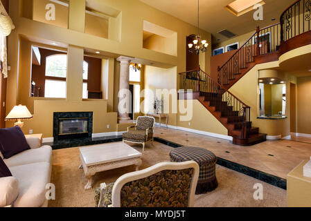 Residential living room interior - Stock Photo