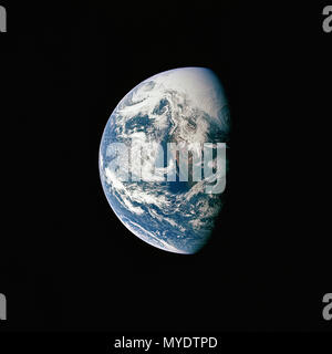 Earth from space during Apollo 13 - Stock Photo