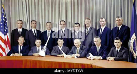 Astronaut Group Three announced on October 18, 1963. - Stock Photo
