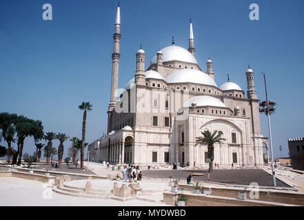 The Mosque of Muhammad 'Ali Cairo on top of Citadel of Cairo built in 1848 AD in downtown Cairo. Exact Date Shot Unknown (metadata states 1983) while caption says unknown) - Stock Photo