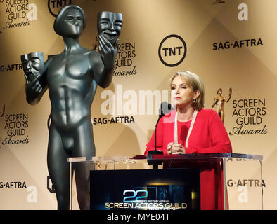 Gabriele Carteris 011 at 2016 SAG Awards Nomination at the Silver Screen Theatre at the Pacific Design Center in Los Angeles. December 9, 2015. - Stock Photo