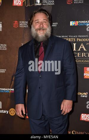Rome, Italy. 06th June, 2018. Rome, Colosseum Charity Evening Gladiator In Concert, Pictured: Russel Crowe Credit: Independent Photo Agency/Alamy Live News - Stock Photo