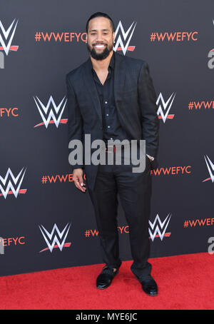 North Hollywood, CA, USA. 8th June, 2018. 06 June 2018 - North Hollywood, California - Jimmy Uso. WWE FYC Event held at Saban Media Center at the Television Academy. Photo Credit: Birdie Thompson/AdMedia Credit: Birdie Thompson/AdMedia/ZUMA Wire/Alamy Live News - Stock Photo